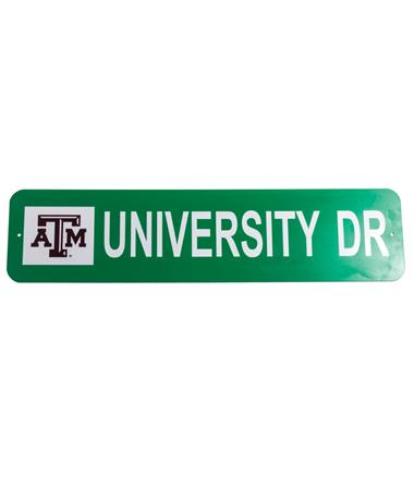 Texas A&M University Drive Metal Sign Misc