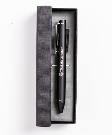 Chrome Accented Twist Action Ballpoint Black