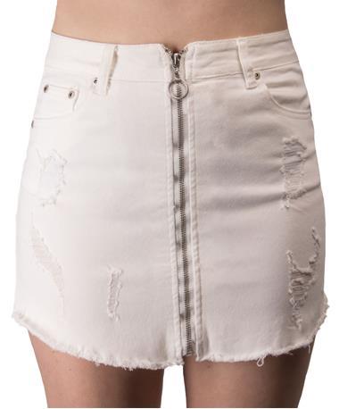 Off White Woven Mini Skirt-front Off White