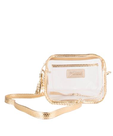 Klutch Gold Box Purse Gold