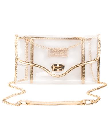 Kleav Gold Envelope Crossbody Gold