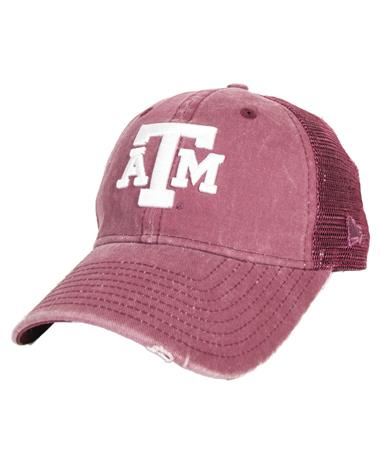 Texas A&M Aggie New Era Tonal Washed Cap Front Maroon