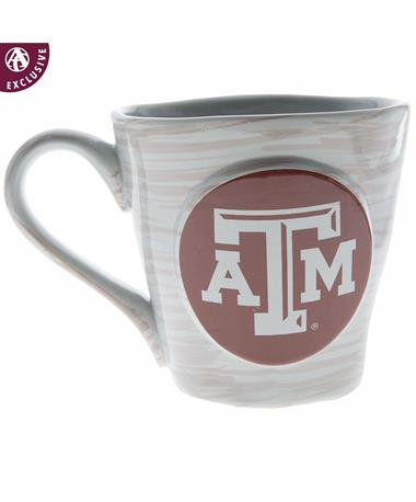 Texas A&M Wobbly Coffee Mug White