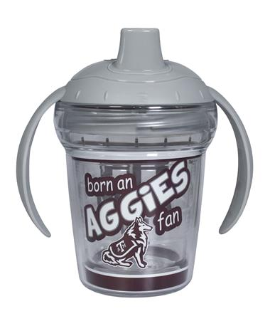 Texas A&M Aggies Born a Fan Sippy Cup - Front Maroon