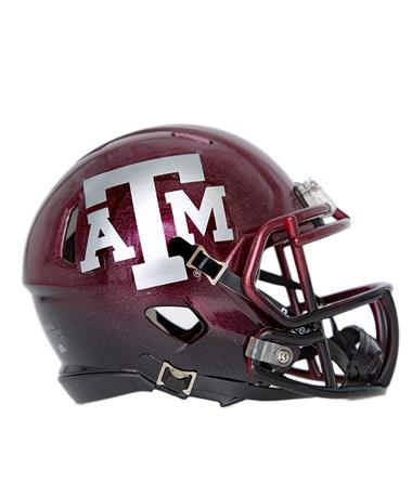 Texas A&M Riddell Alt Speed Mini Helmet - Side MAROON