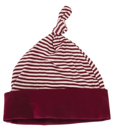 Made in College Station Infant Beanie Maroon/Grey Striped Maroon/Grey Striped