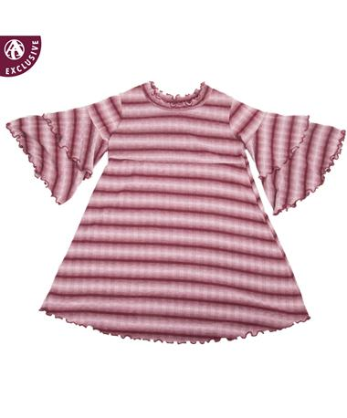 Made in College Station Ruffle Bell Sleeve Dress Maroon