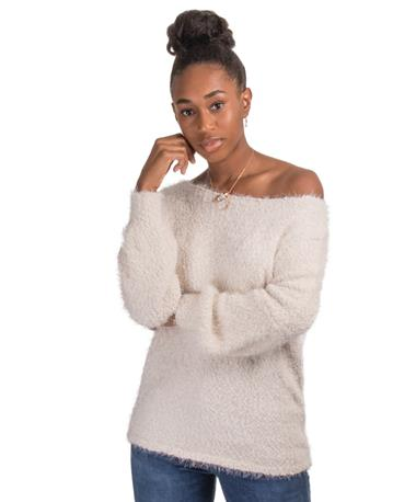 BB Dakota Shrug It Off Sweater - Off Shoulder