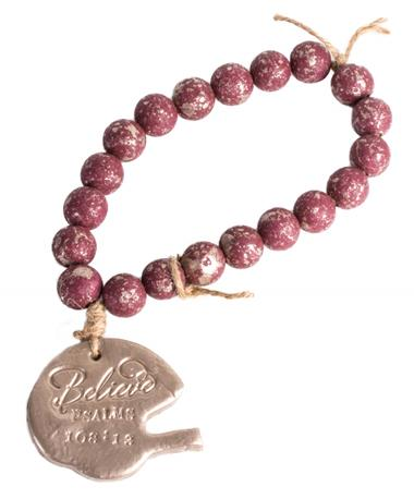 Maroon Football Blessing Beads - Whole Product Brown