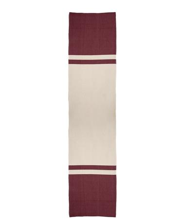 Nativa Color Block Table Runner Nat/Maroon
