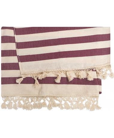 Maroon Nativa Throw Blanket