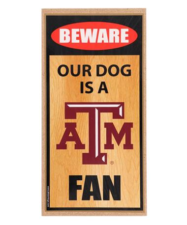 Our Dog Is A Fan Wooden Sign N/A