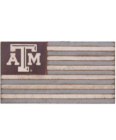 Texas A&M Large Rustic Wood Flag