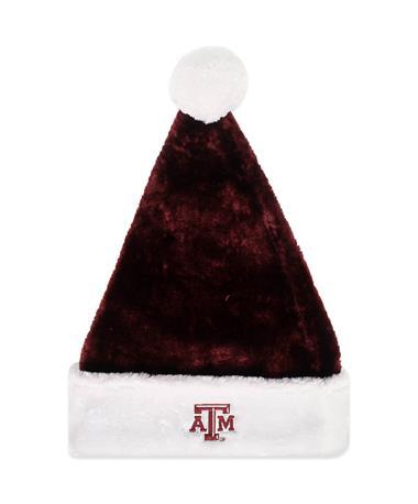 Texas A&M Maroon Santa Hat - Front Burgundy/White