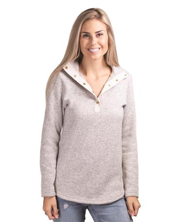 Ladies Hingham Tunic Pullover Oatmeal  Oatmeal Heather