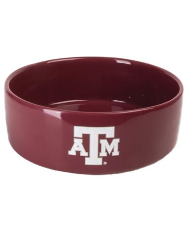 Texas A&M Large Ceramic Pet Bowl Maroon