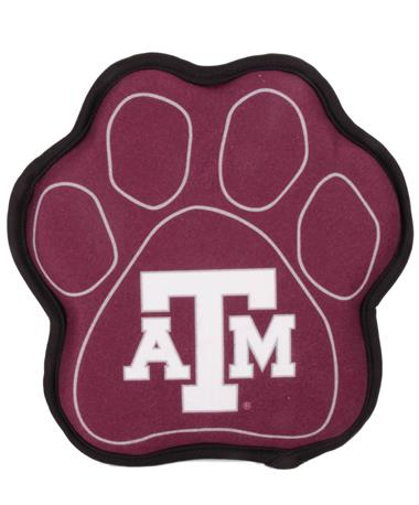 Texas A&M Paw Shaped Squeak Toy Maroon
