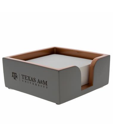 Texas A&M Concrete Notepad Holder Concrete/Copper