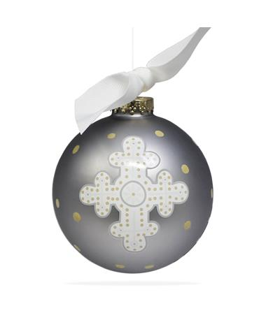 Coton Colors Neutral Cross Ornament