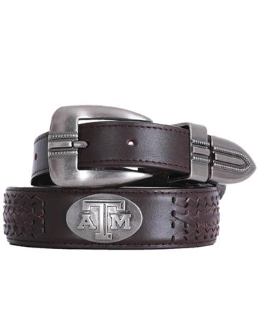 Texas A&M Zepplin Braided Concho Belt - Brown Brown