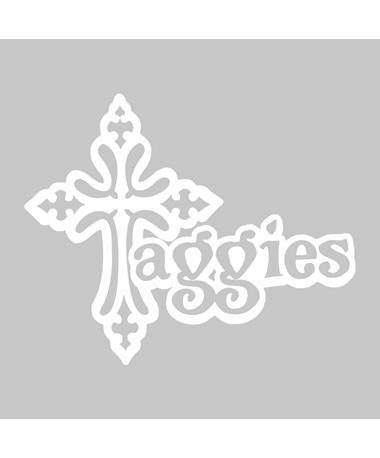 Texas A&M Aggies Ornate Cross Decal