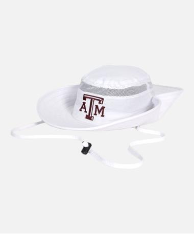 Adidas Texas A&M Sideline Safari Hat White
