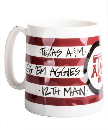Texas A&M Logo Mug White