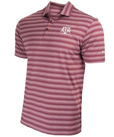 Texas AM Columbia OmniWick Splash Polo Maroon
