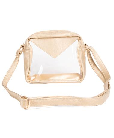 Packed Party Stadium Crossbody Bag View One GOLD