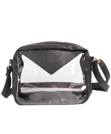 Packed Party Stadium Crossbody Bag Black View One BLACK