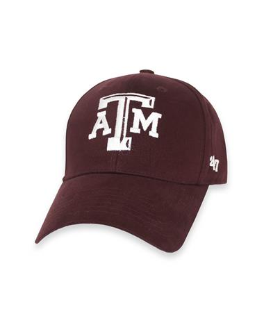 Texas A&M `47 Brand Youth Basic MVP Cap - Maroon - Front Maroon