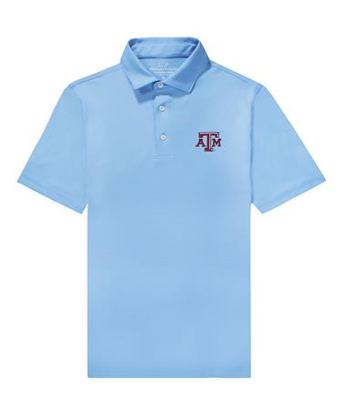 Texas A&M Vineyard Vines Tempo Solid Pique Polo
