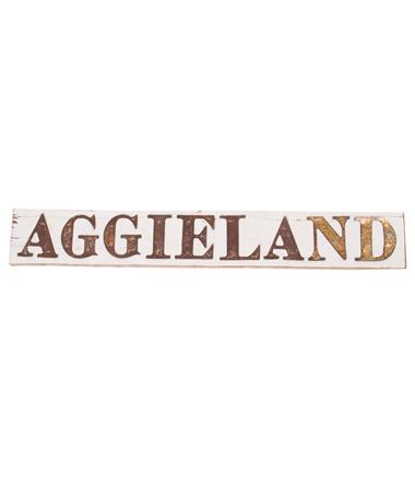Texas A&M Aggieland Farm House Sign White