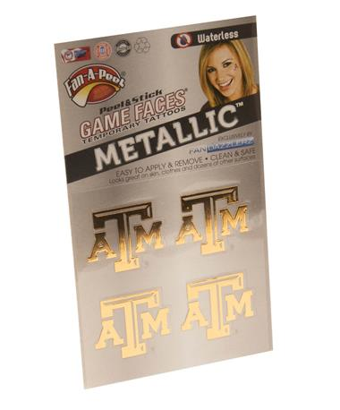 Texas A&M Aggie Gold Face Tattoo Pack GOLD