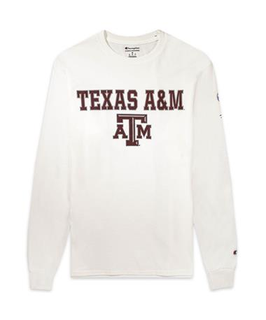 Texas A&M Champion SEC Long Sleeve Tee - White - Front White