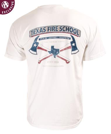 Texas Fire Training School T-Shirt C1717 White