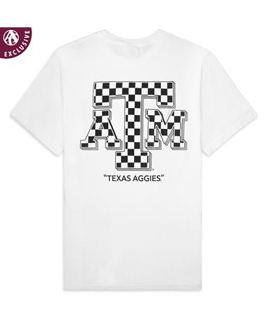 Texas A&M Aggies Off The Wall Checkered-Back C1717 White
