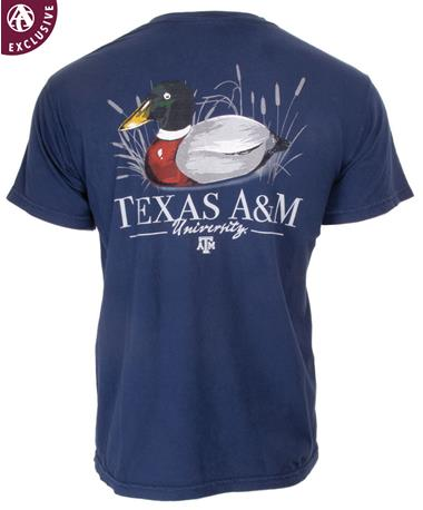 Texas A&M Aggies All Season Duck T-Shirt - Back C6030 TRUE NAVY