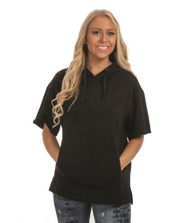 Charles River Adult Coach Hoodie - Front BLACK