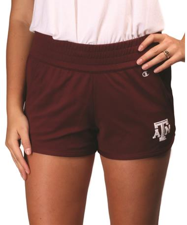 Texas A&M Champion Maroon Endurance Short - Front Maroon