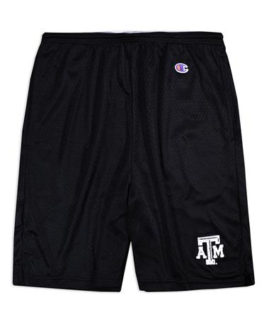Texas A&M Champion Mesh Shorts - Front Black