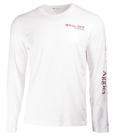 Texas AM Athletic Long Sleeve Tee-front White