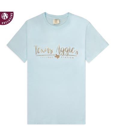 Texas A&M Aggies Chambray And Rose Gold-Front C1717 CHAMBRAY