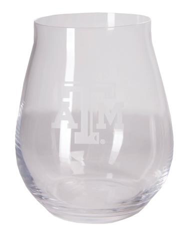 Texas A&M Luigi Trebbiano Stemless Wine Glass Clear