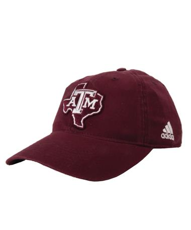 Adidas Texas A&M SEC Lone Star Slouch Maroon Front Maroon