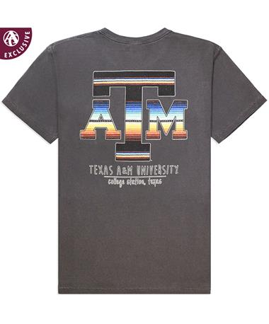 Texas A&M Aggies Color Serape Short Sleeve - Back C1717 PEPPER