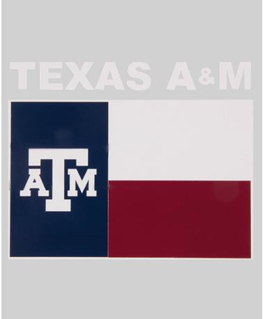 State of Texas A&M Flag Decal Maroon/White/Navy