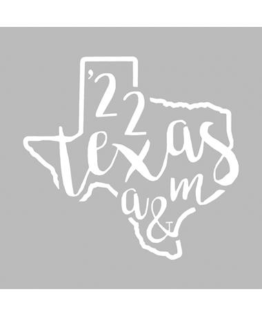 Texas A&M Class of 2022 Texas Script Decal