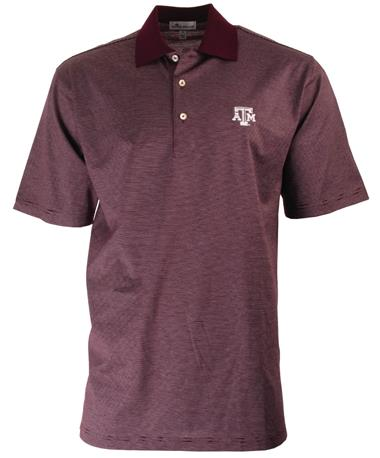 Peter Millar Texas A&M Scholar Stripe Maroon
