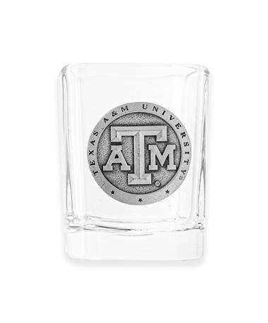 Texas A&M Heritage Pewter Square Shot Glass